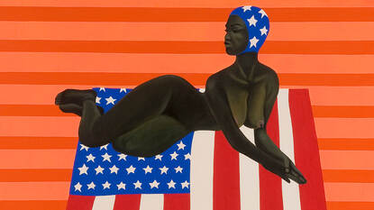 SZ29912 Toni Burgering (1937-2017), 'Black Beauty on Stars & Stripes', 1966 © Erven Toni Burgering Foto: Margareta Svensson